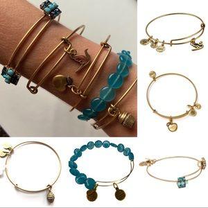 Alex and Ani | 5 Bracelets | Gold